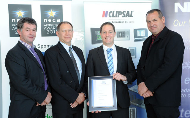 NECA Excellence Awards 2012 - Roger Commins, Colin Duff , Andrew Dwyer, John Toscan
